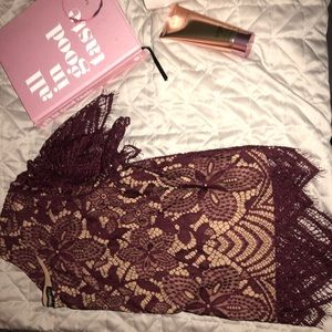 Burgundy lace top!